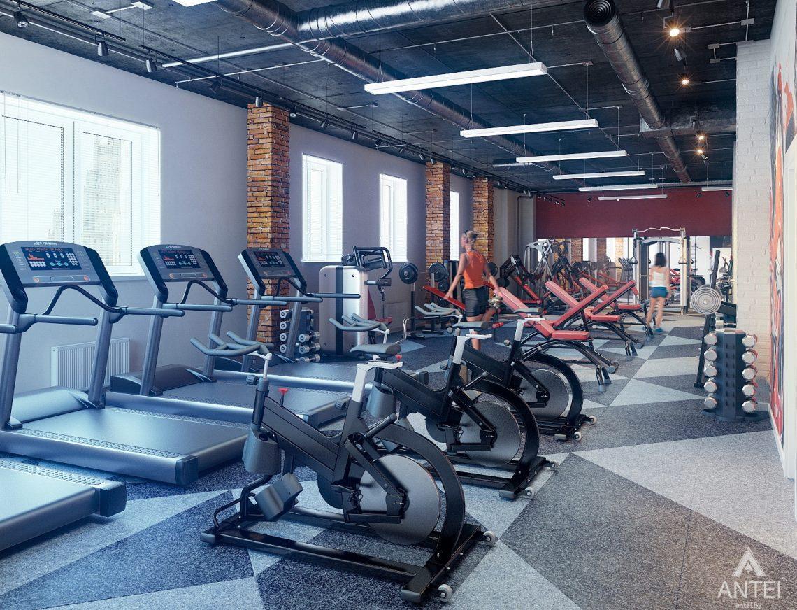 Дизайн интерьера тренажерного зала в Гомеле - тренировочный зал фото №1