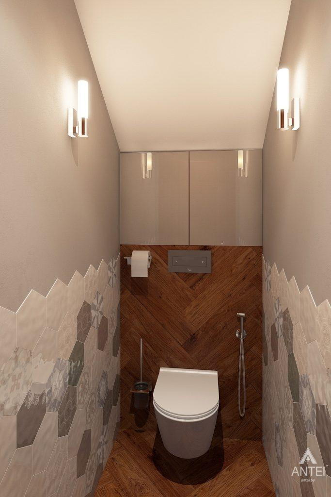 Дизайн интерьера коттеджа в Гродно - туалет фото №1