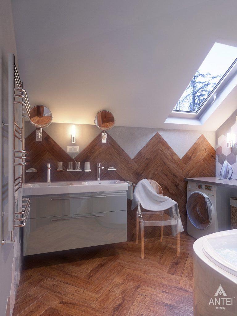 Дизайн интерьера коттеджа в Гродно - ванная фото №2