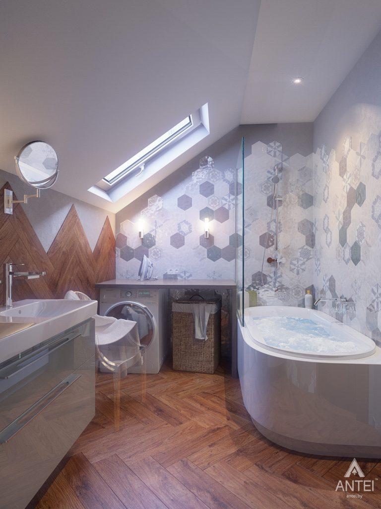 Дизайн интерьера коттеджа в Гродно - ванная фото №1