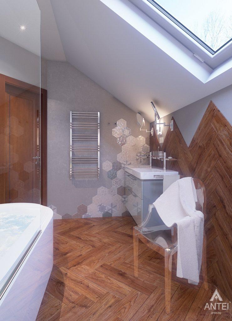 Дизайн интерьера коттеджа в Гродно - ванная фото №3