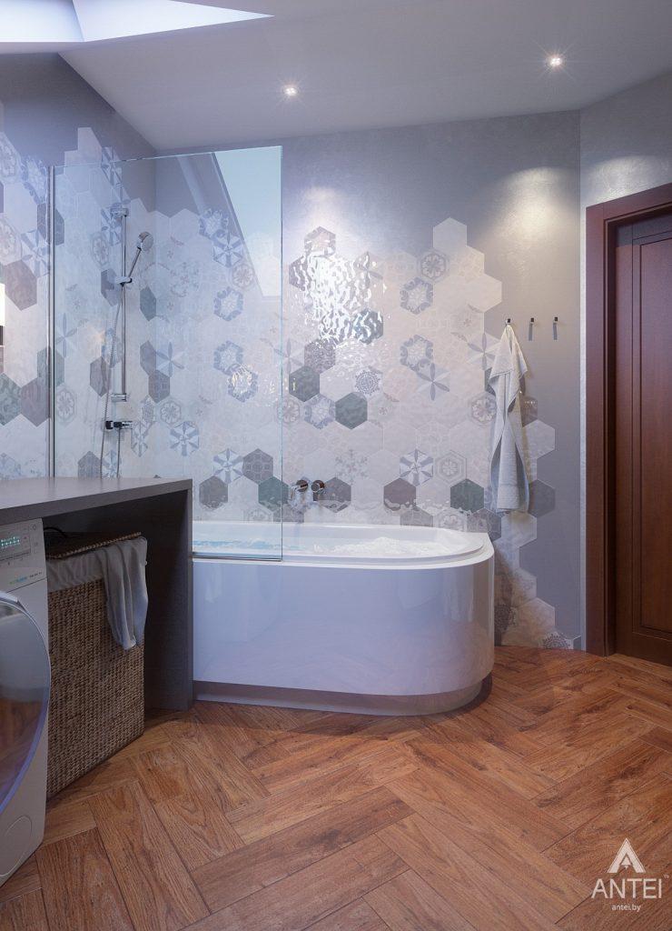 Дизайн интерьера коттеджа в Гродно - ванная фото №4