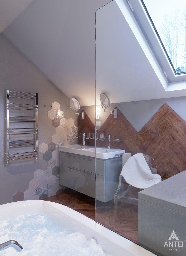 Дизайн интерьера коттеджа в Гродно - ванная фото №5