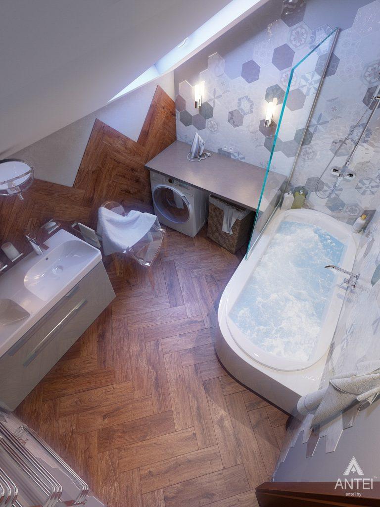 Дизайн интерьера коттеджа в Гродно - ванная фото №6