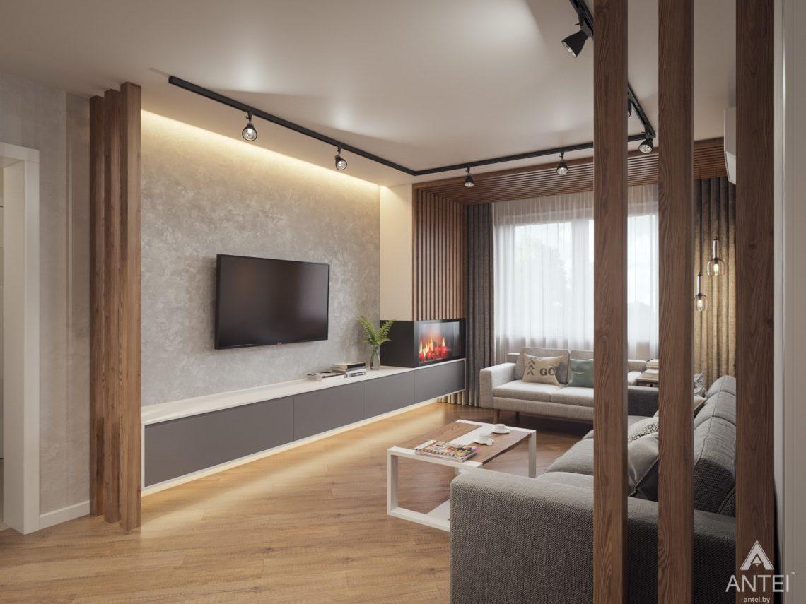 Дизайн интерьера трехкомнатная квартира в Гомеле, ул. Денисенко - гостиная фото №2