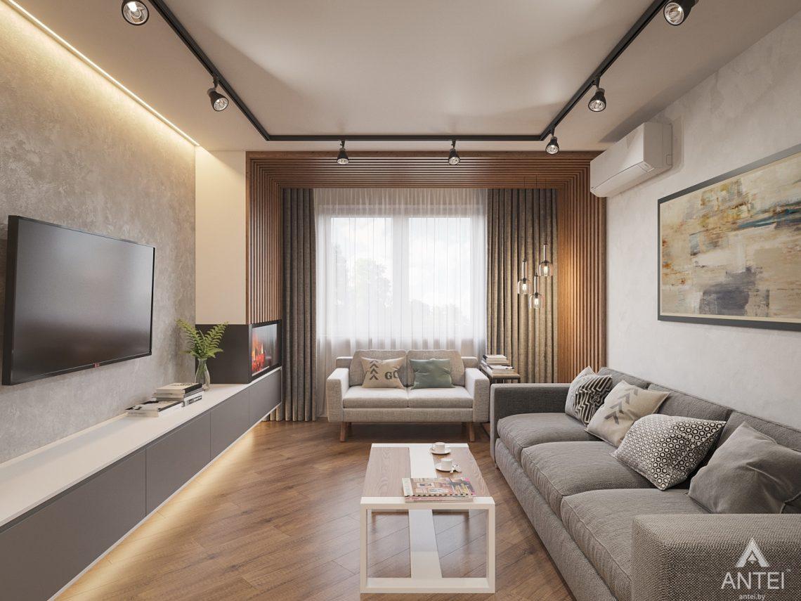 Дизайн интерьера трехкомнатная квартира в Гомеле, ул. Денисенко - гостиная фото №1