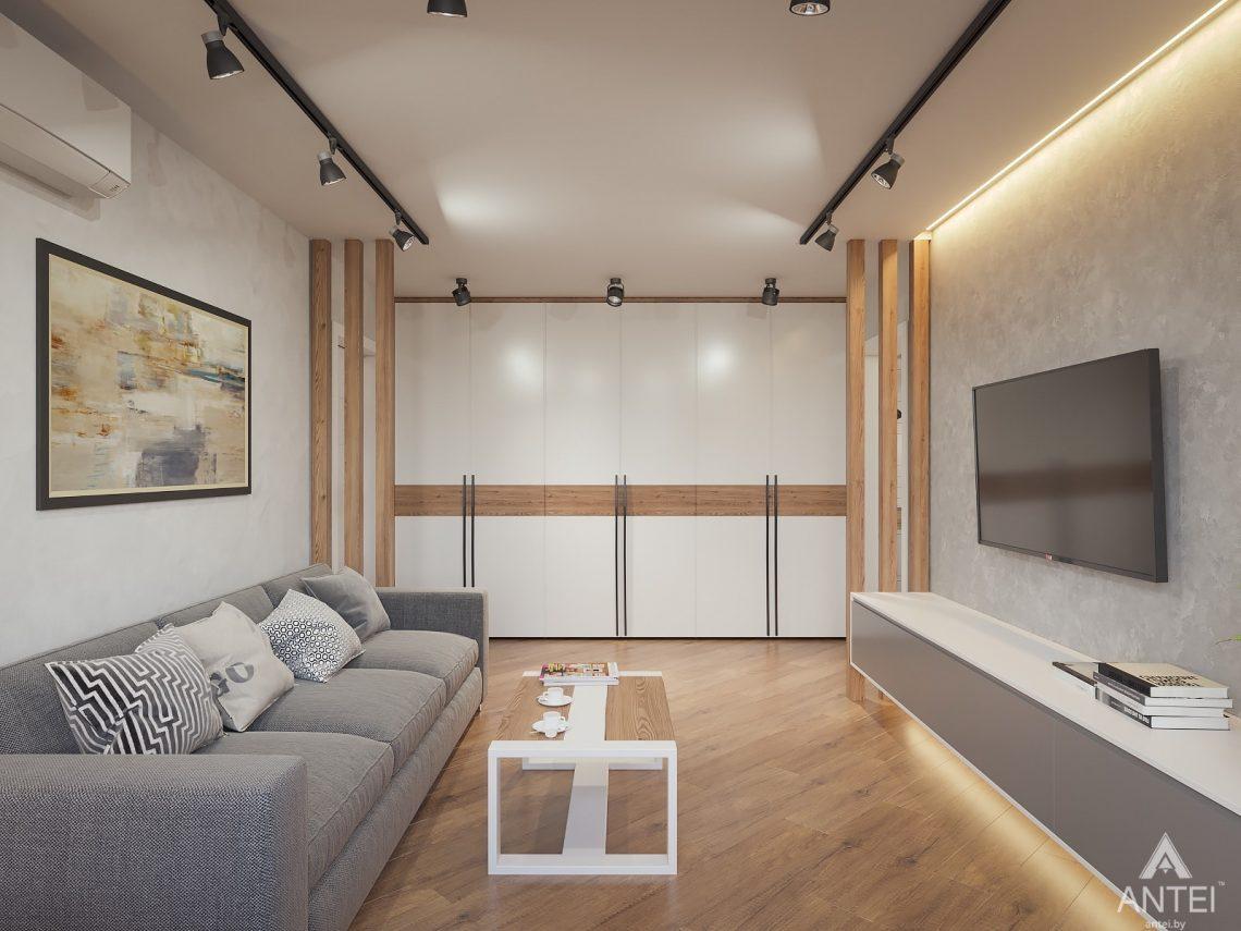 Дизайн интерьера трехкомнатная квартира в Гомеле, ул. Денисенко - гостиная фото №3