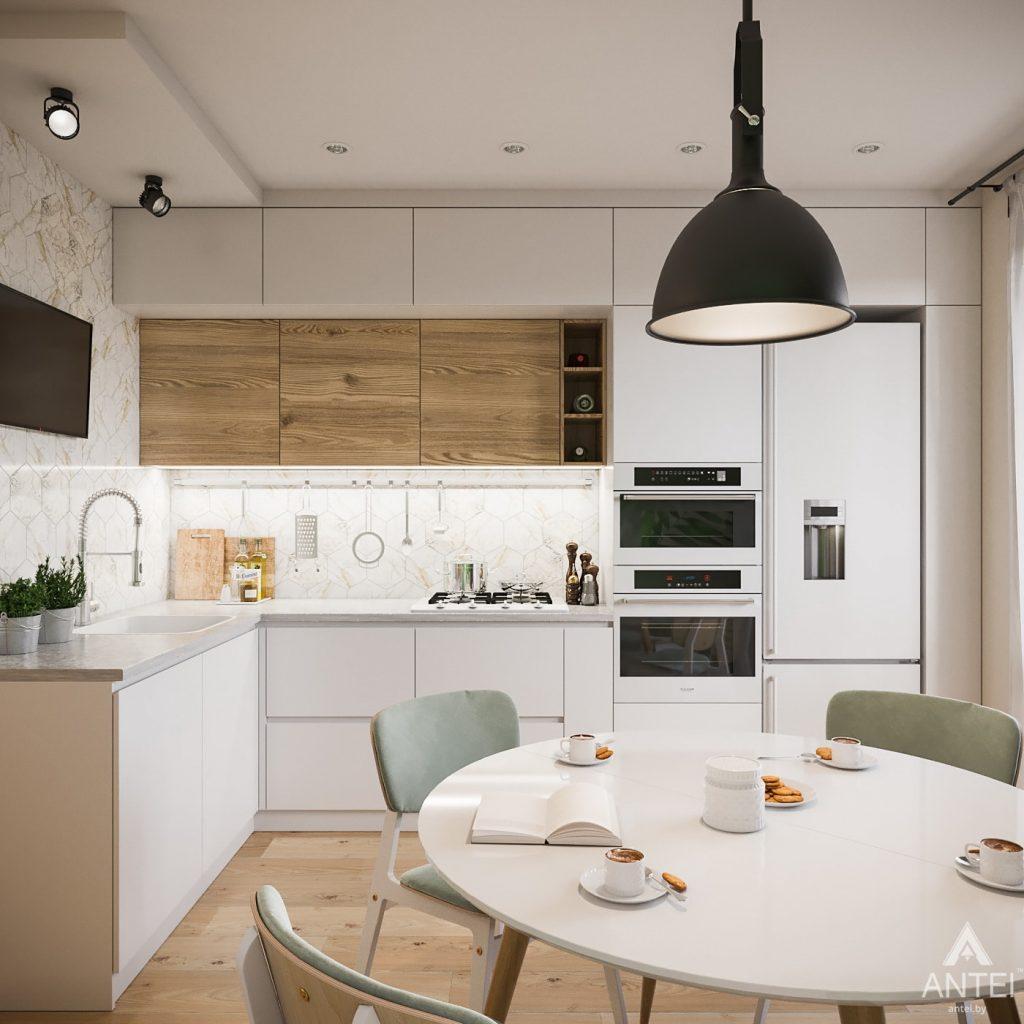 Дизайн интерьера трехкомнатная квартира в Гомеле, ул. Денисенко - кухня фото №1