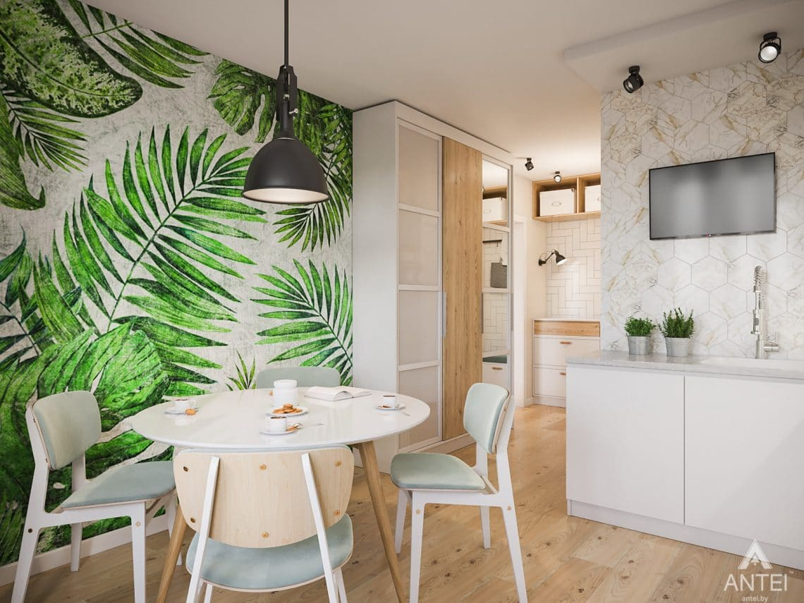 Дизайн интерьера трехкомнатная квартира в Гомеле, ул. Денисенко - кухня фото №3