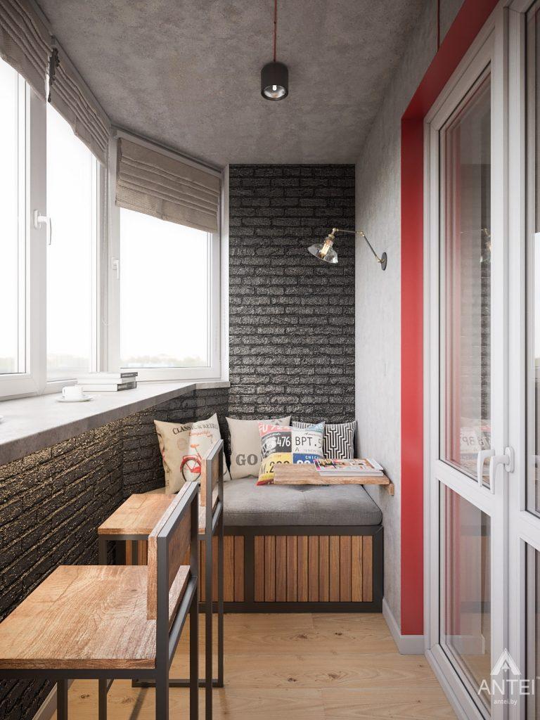 Дизайн интерьера трехкомнатная квартира в Гомеле, ул. Денисенко - лоджия фото №3