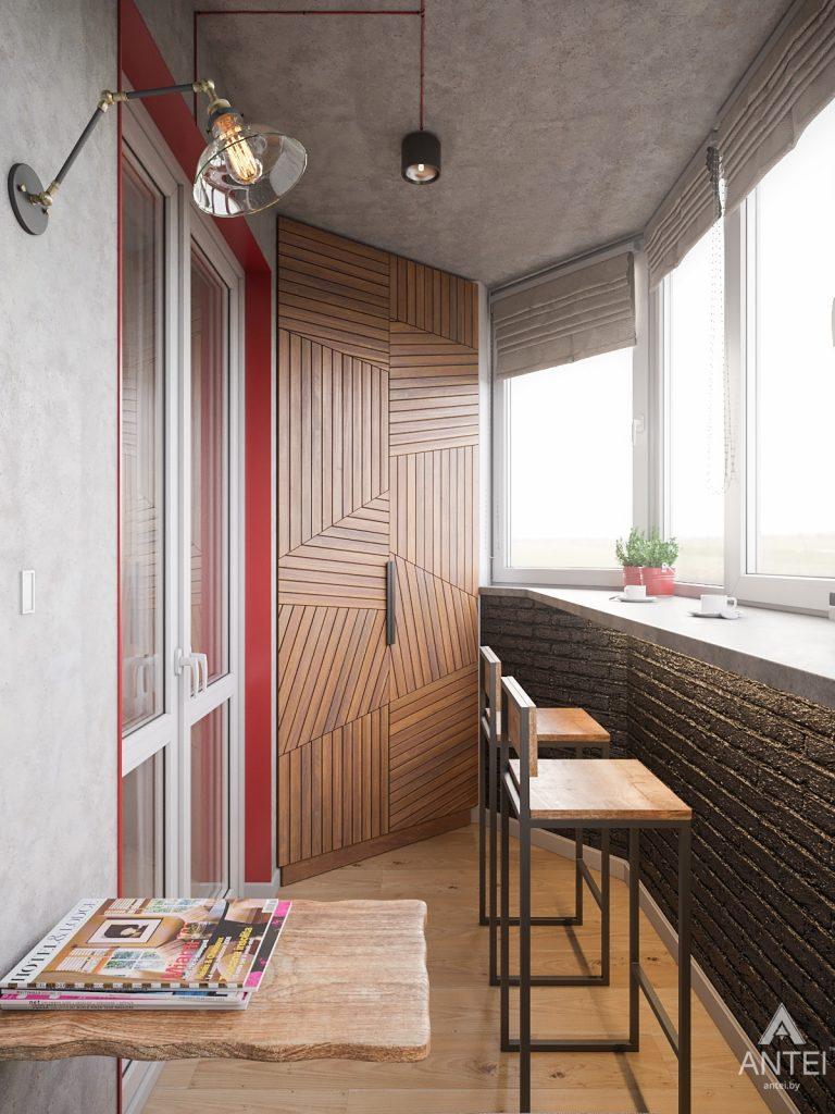 Дизайн интерьера трехкомнатная квартира в Гомеле, ул. Денисенко - лоджия фото №4