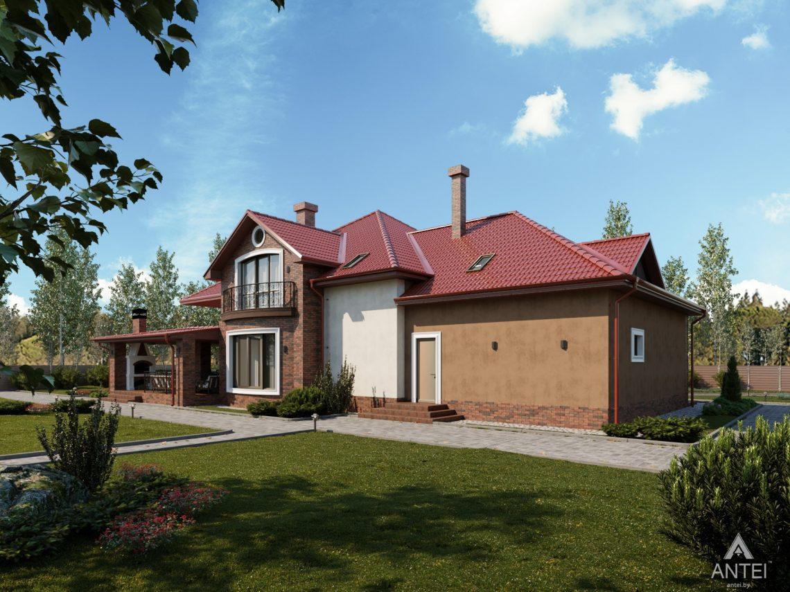 Дизайн фасадов дома с мансардой в Гомеле - вид сзади фото №3
