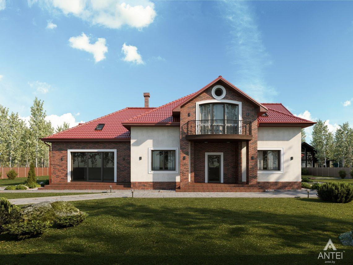 Дизайн фасадов дома с мансардой в Гомеле - вид спереди