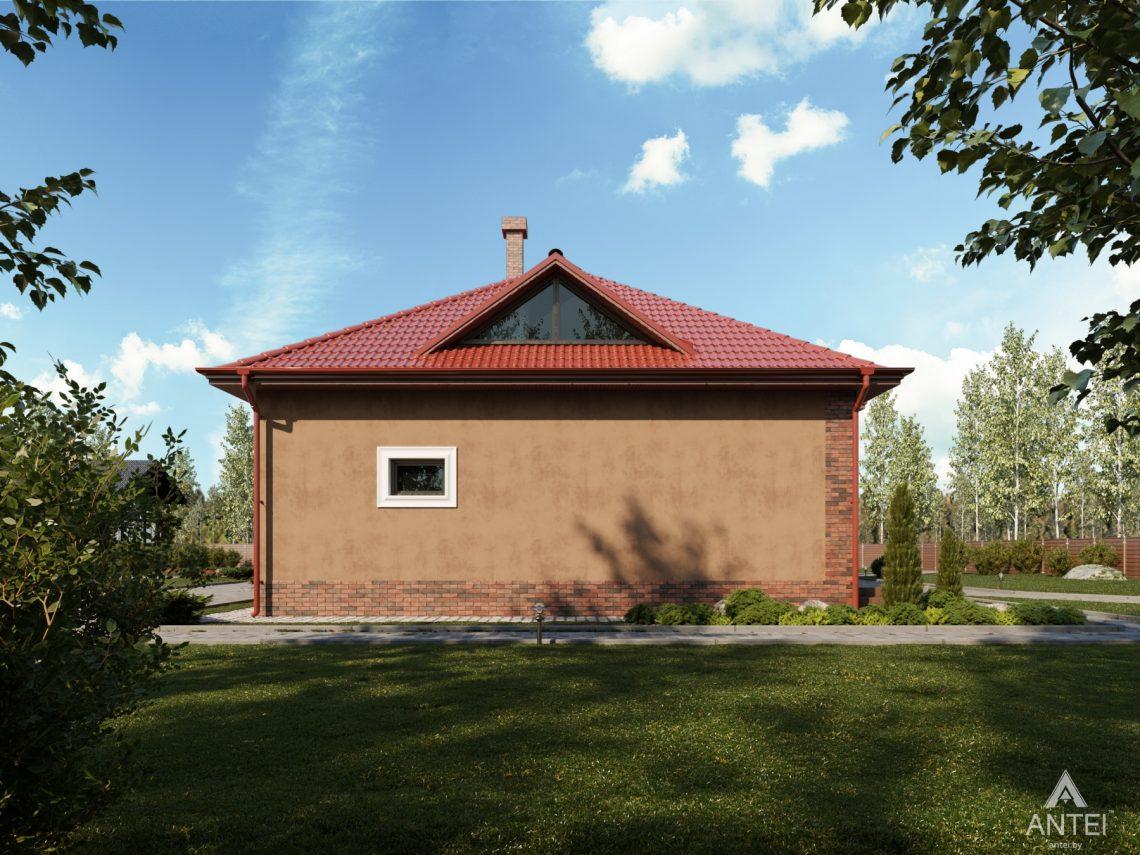 Дизайн фасадов дома с мансардой в Гомеле - вид сбоку