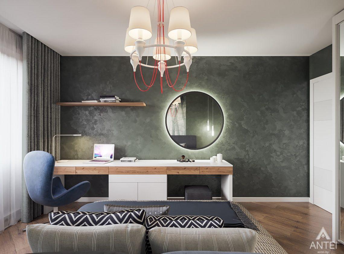 Дизайн интерьера трехкомнатная квартира в Гомеле, ул. Денисенко - спальня фото №2