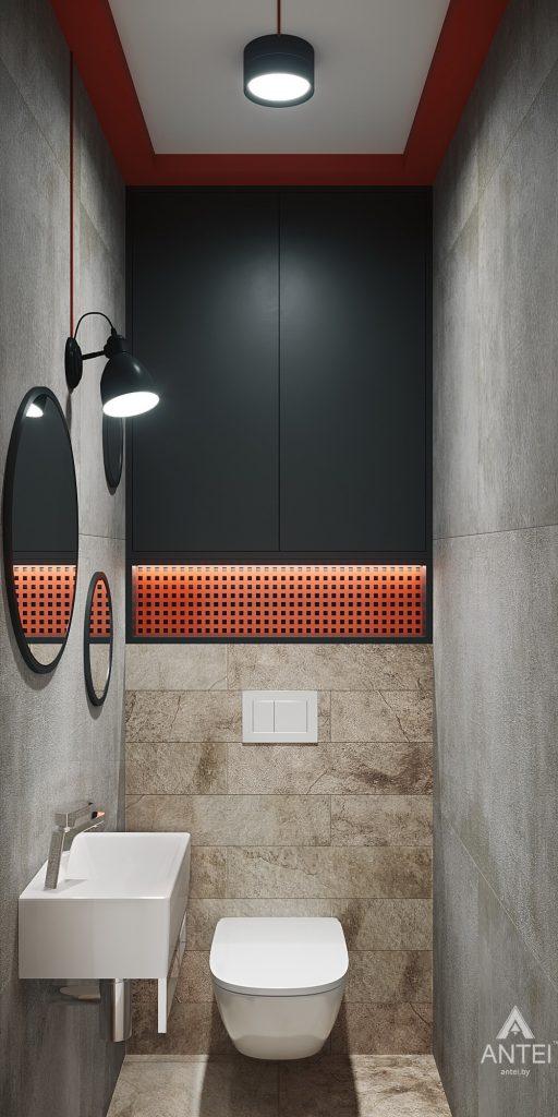 Дизайн интерьера трехкомнатная квартира в Гомеле, ул. Денисенко - уборная фото №1