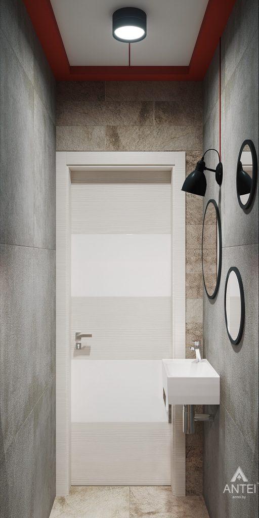 Дизайн интерьера трехкомнатная квартира в Гомеле, ул. Денисенко - уборная фото №2