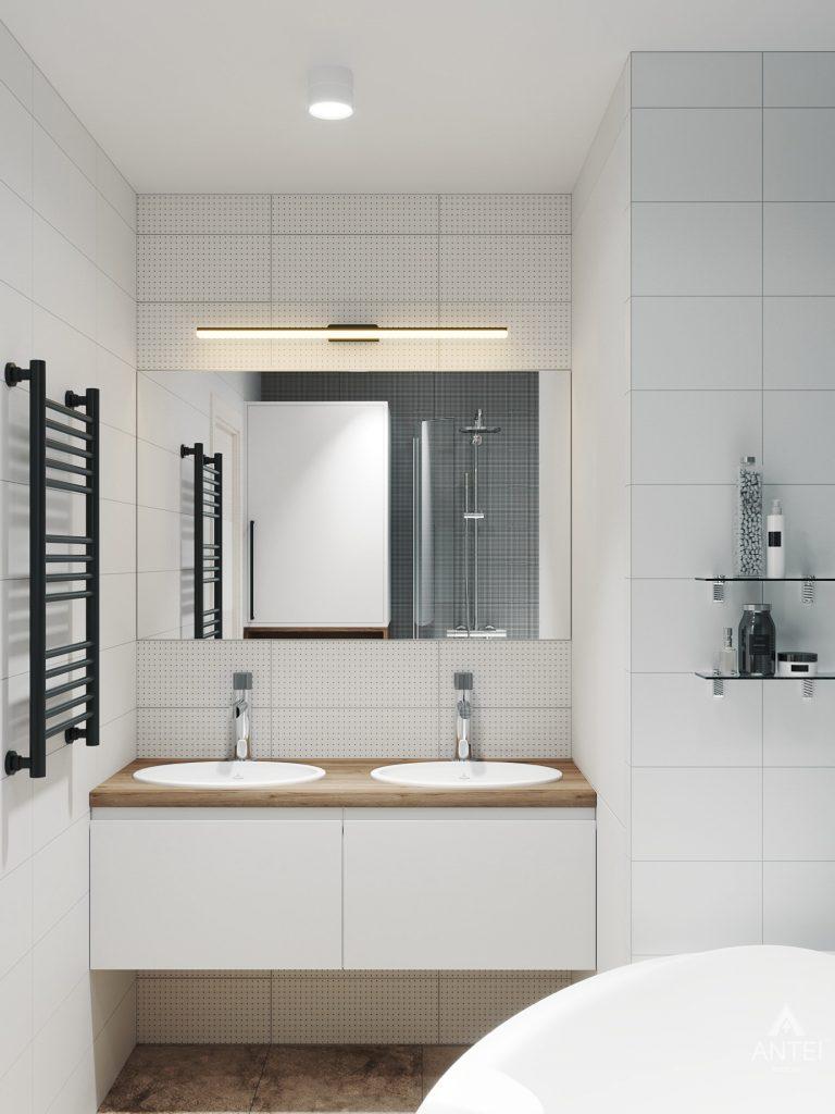 Дизайн интерьера трехкомнатная квартира в Гомеле, ул. Денисенко - ванная фото №1