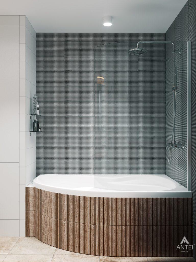 Дизайн интерьера трехкомнатная квартира в Гомеле, ул. Денисенко - ванная фото №2