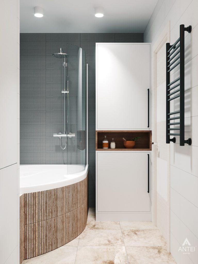 Дизайн интерьера трехкомнатная квартира в Гомеле, ул. Денисенко - ванная фото №3