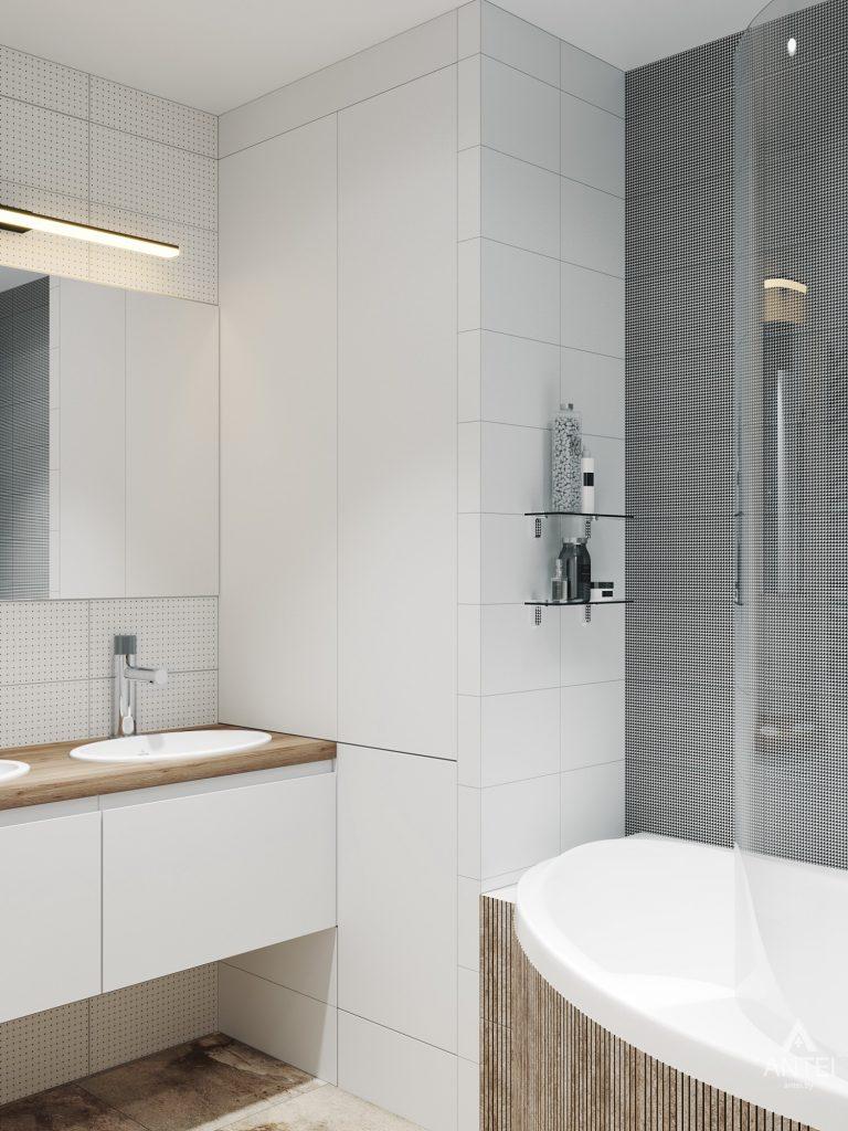 Дизайн интерьера трехкомнатная квартира в Гомеле, ул. Денисенко - ванная фото №4