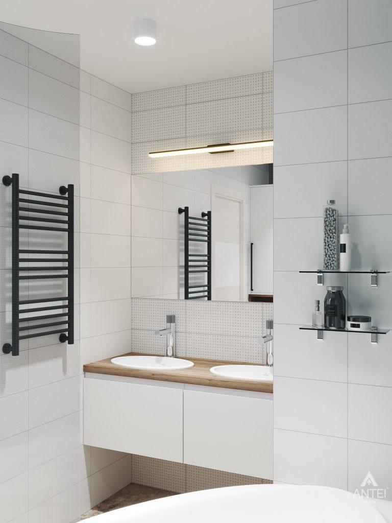 Дизайн интерьера трехкомнатная квартира в Гомеле, ул. Денисенко - ванная фото №5
