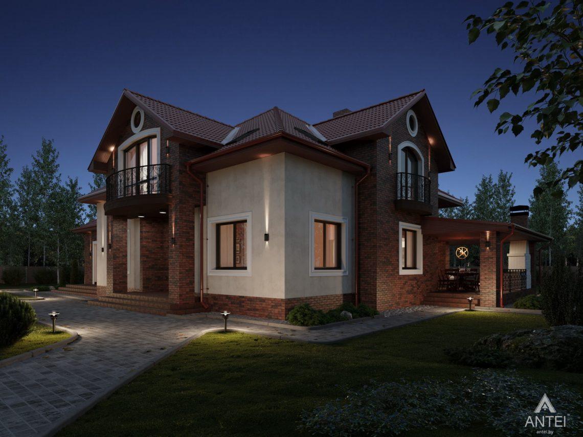 Дизайн фасадов дома с мансардой в Гомеле - терраса фото №1