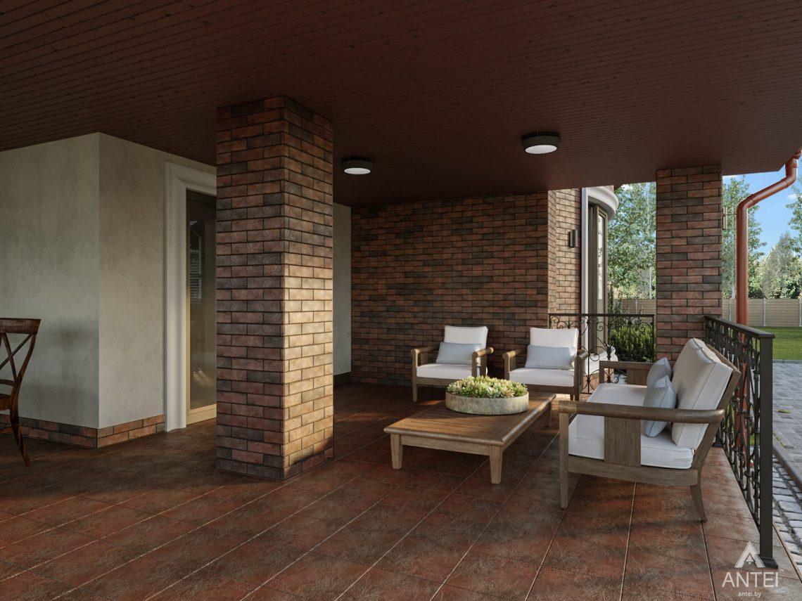 Дизайн фасадов дома с мансардой в Гомеле - терраса фото №3
