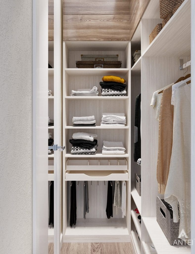 Дизайн интерьера квартиры студии в Москве - фото №2Дизайн интерьера квартиры студии в Москве - гардеробная фото №3