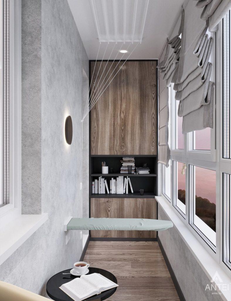 Дизайн интерьера квартиры студии в Москве - фото №2Дизайн интерьера квартиры студии в Москве - лоджия фото №3