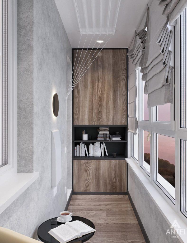 Дизайн интерьера квартиры студии в Москве - фото №2Дизайн интерьера квартиры студии в Москве - лоджия фото №2