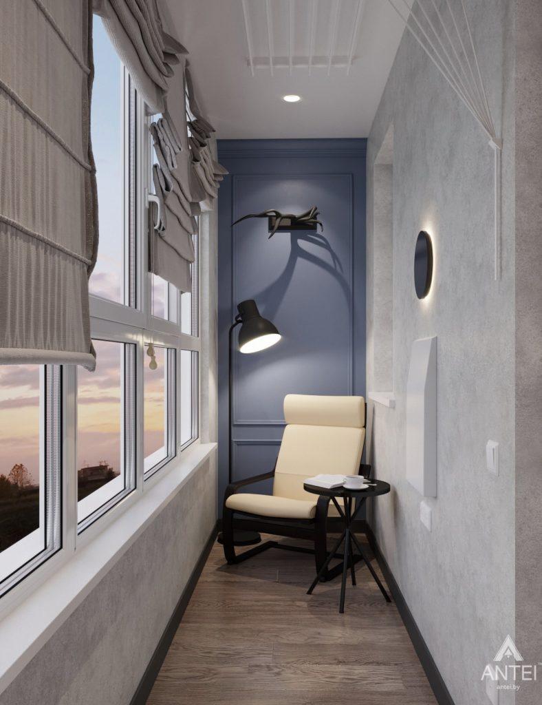 Дизайн интерьера квартиры студии в Москве - фото №2Дизайн интерьера квартиры студии в Москве - лоджия фото №1