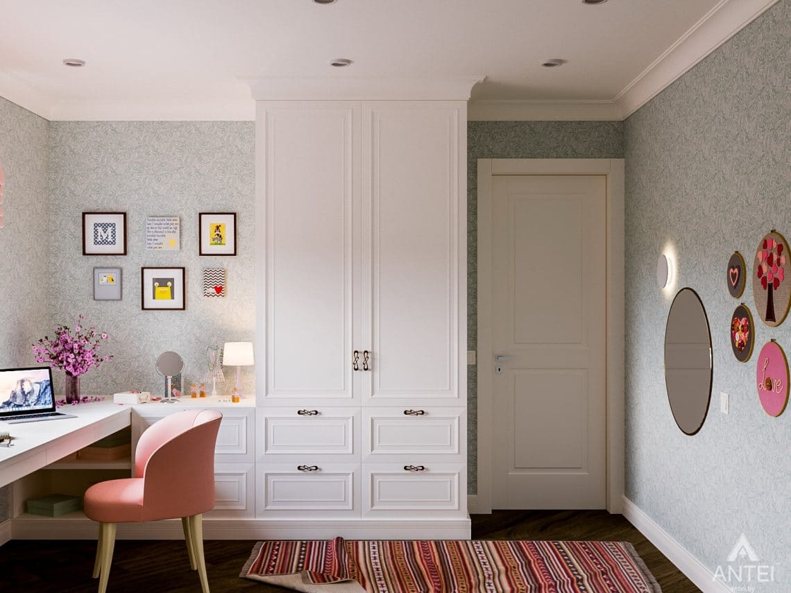 Дизайн интерьера трехкомнатная квартира в Светлогорске - детская комната фото №1