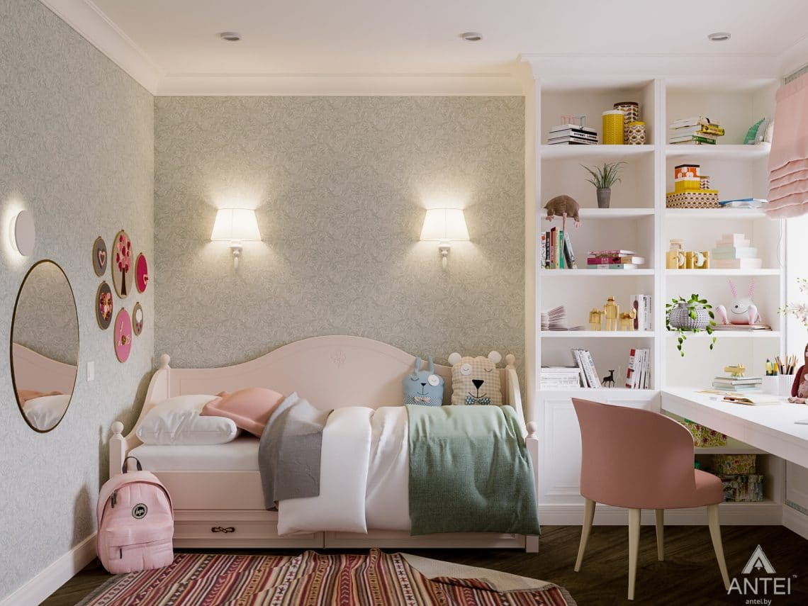 Дизайн интерьера трехкомнатная квартира в Светлогорске - детская комната фото №4