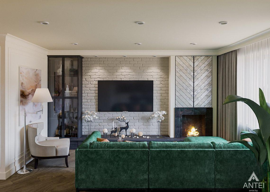 Дизайн интерьера трехкомнатная квартира в Светлогорске - кухня-гостиная фото №3
