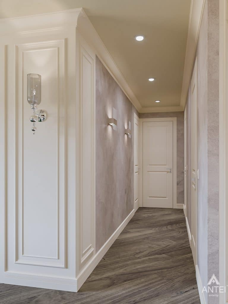 Дизайн интерьера трехкомнатная квартира в Светлогорске - прихожая фото №4