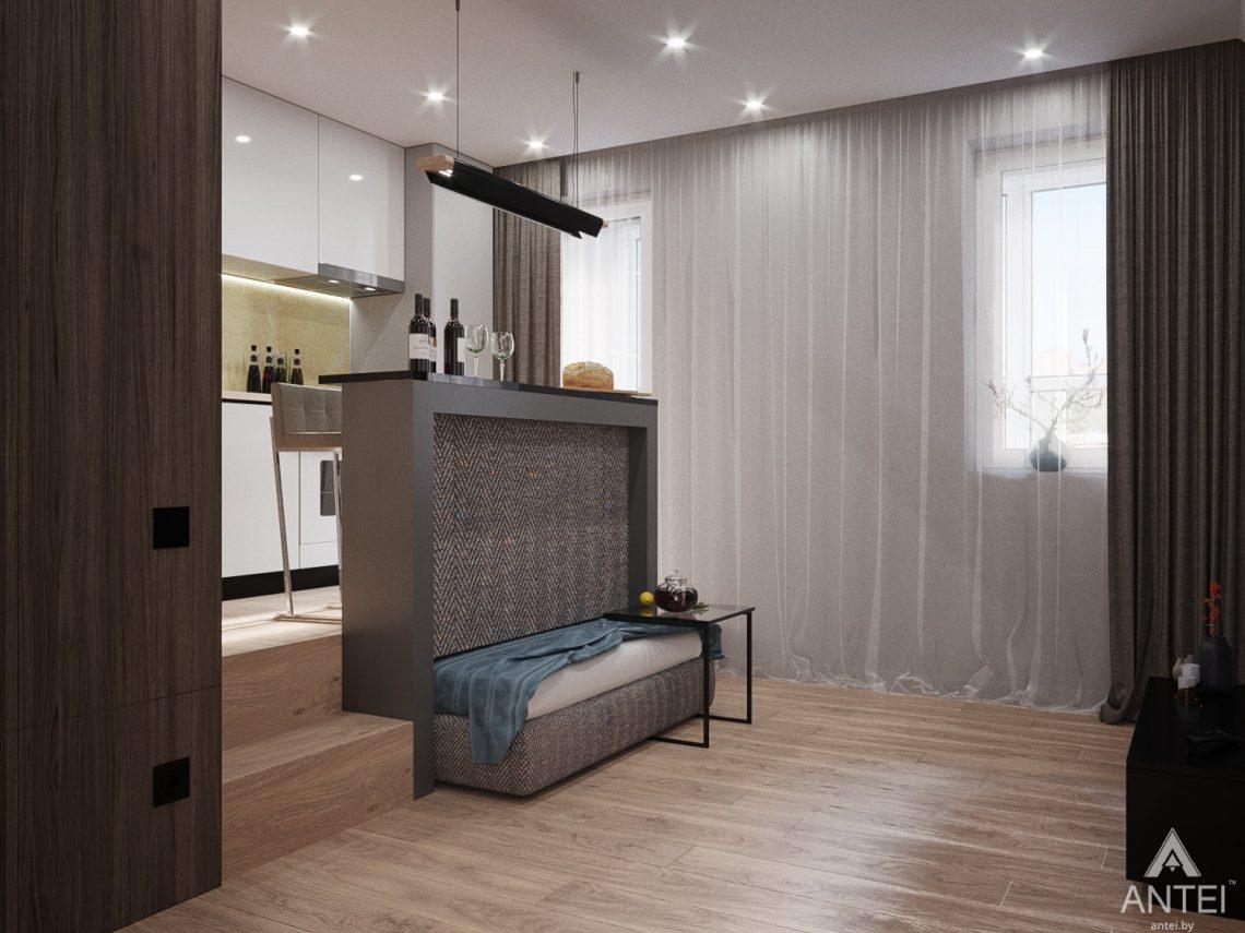 Дизайн интерьера квартиры студии в Москве - фото №2Дизайн интерьера квартиры студии в Москве - фото №15