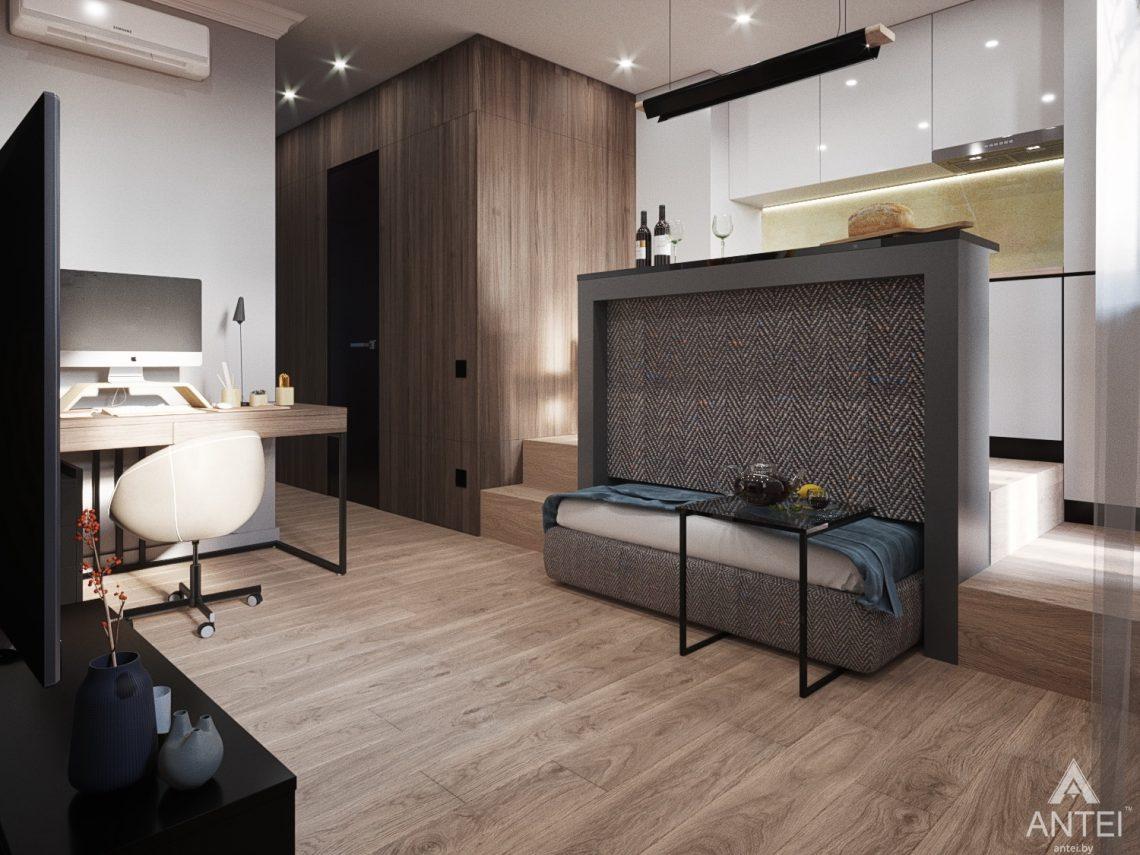 Дизайн интерьера квартиры студии в Москве - фото №2Дизайн интерьера квартиры студии в Москве - фото №5