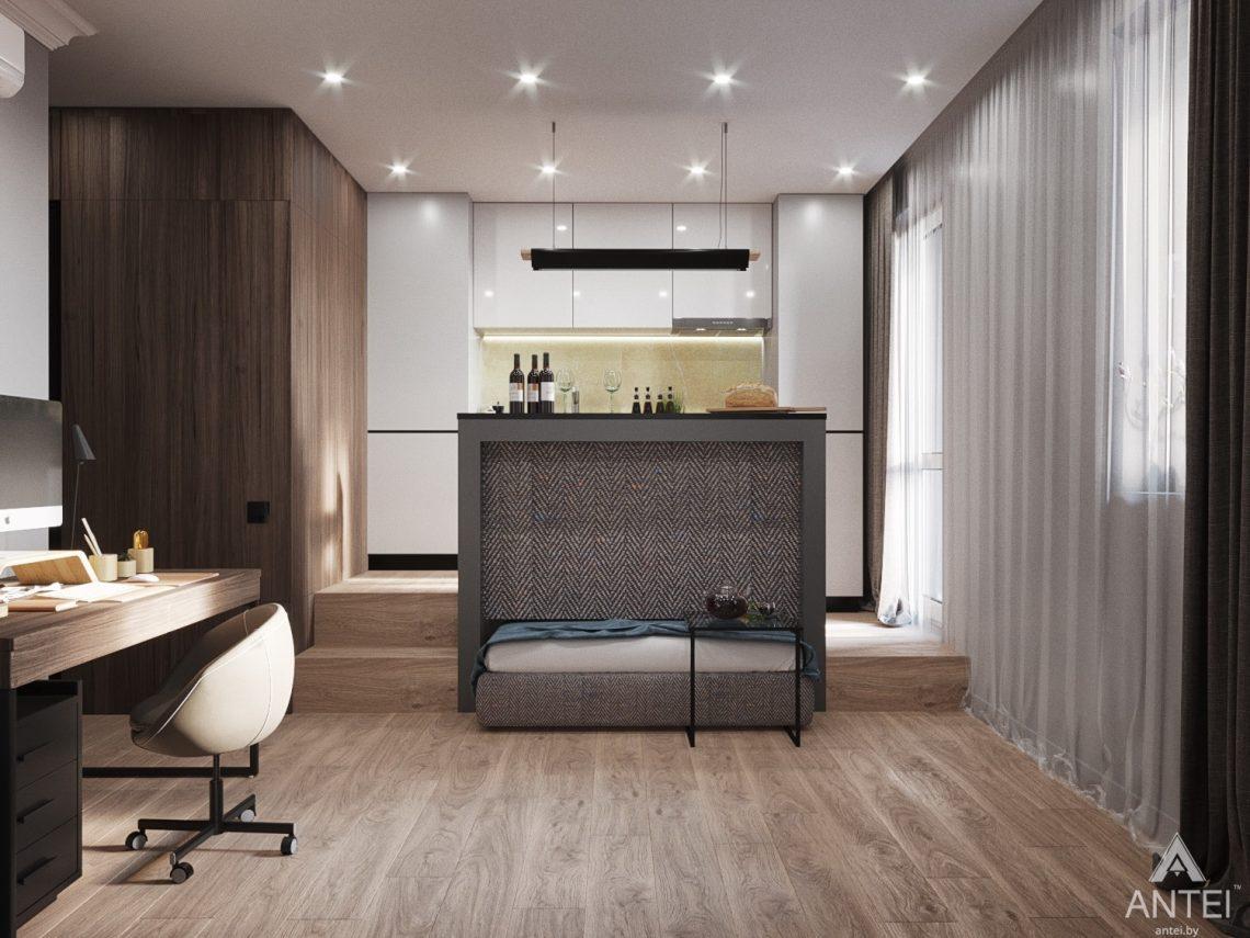 Дизайн интерьера квартиры студии в Москве - фото №1