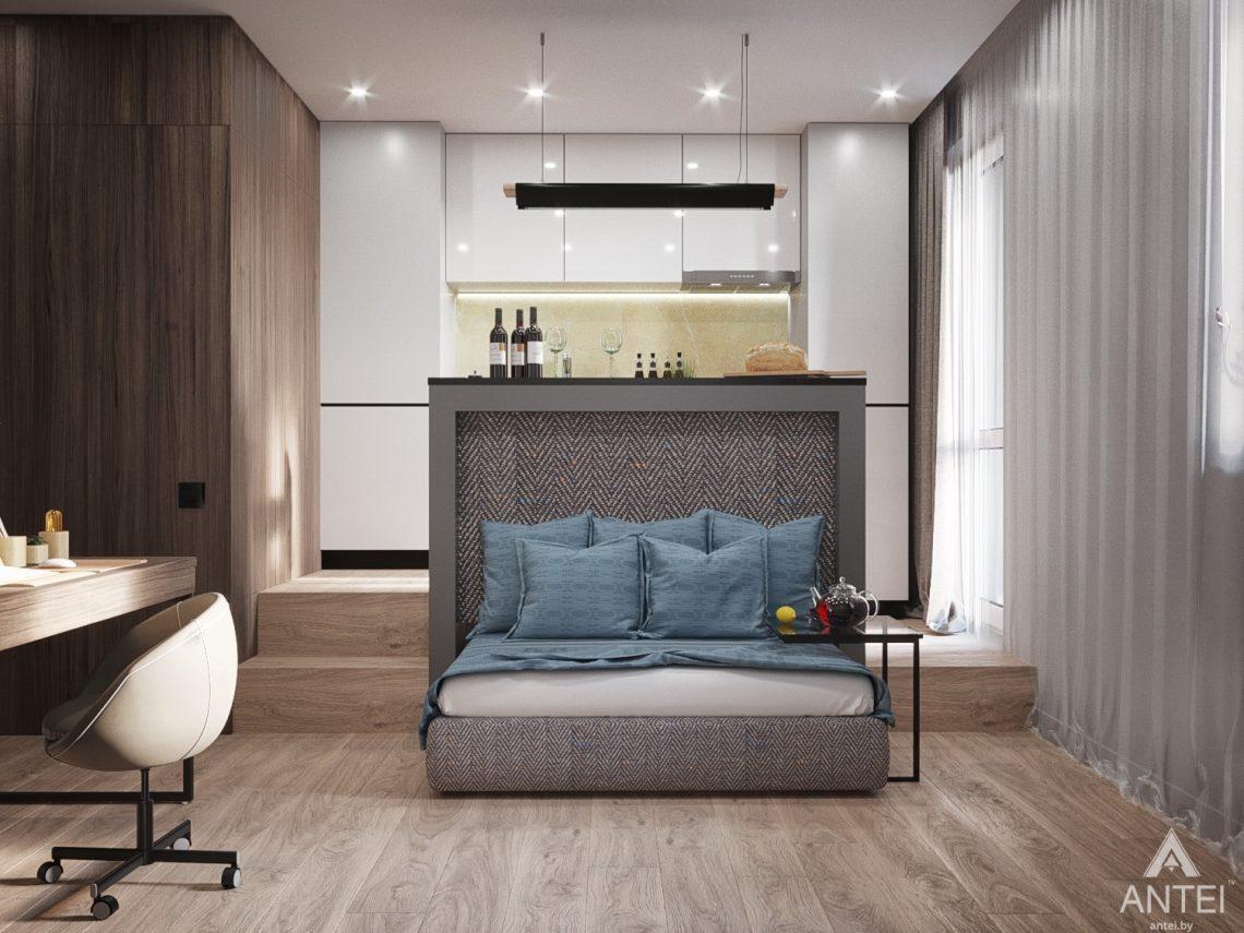 Дизайн интерьера квартиры студии в Москве - фото №2