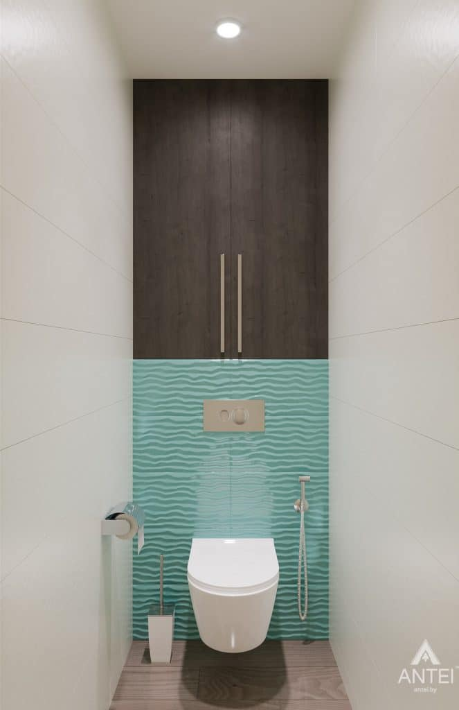 Дизайн интерьера трехкомнатная квартира в Светлогорске - туалет фото №1