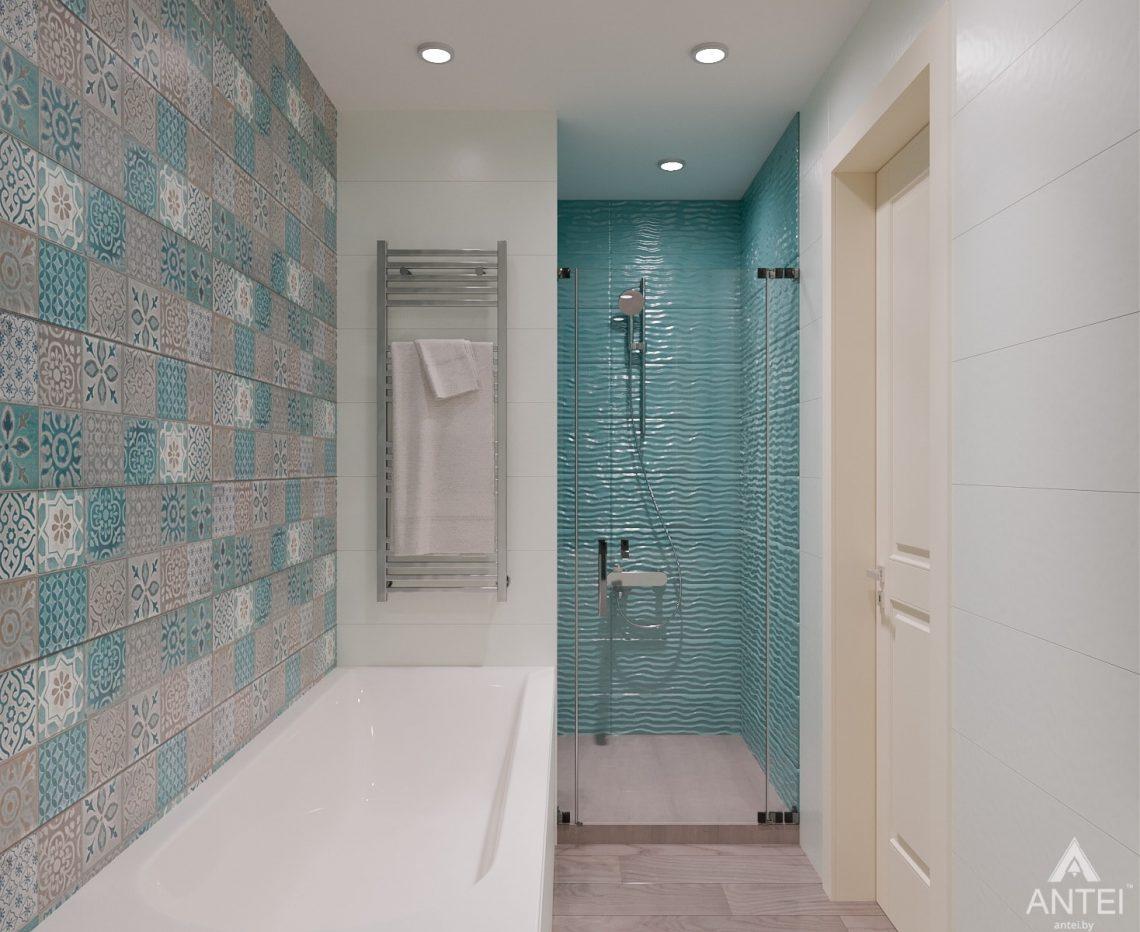 Дизайн интерьера трехкомнатная квартира в Светлогорске - ванная фото №1
