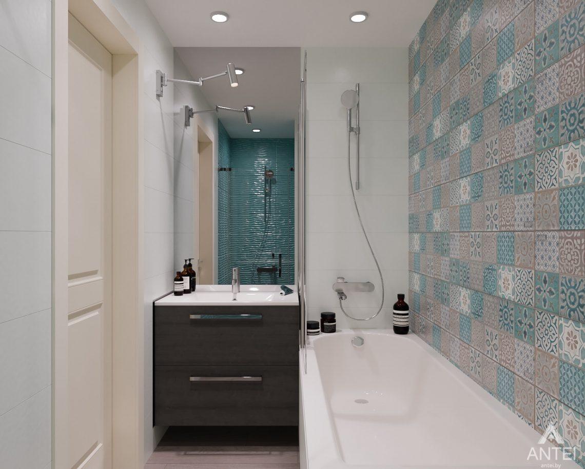 Дизайн интерьера трехкомнатная квартира в Светлогорске - ванная фото №2