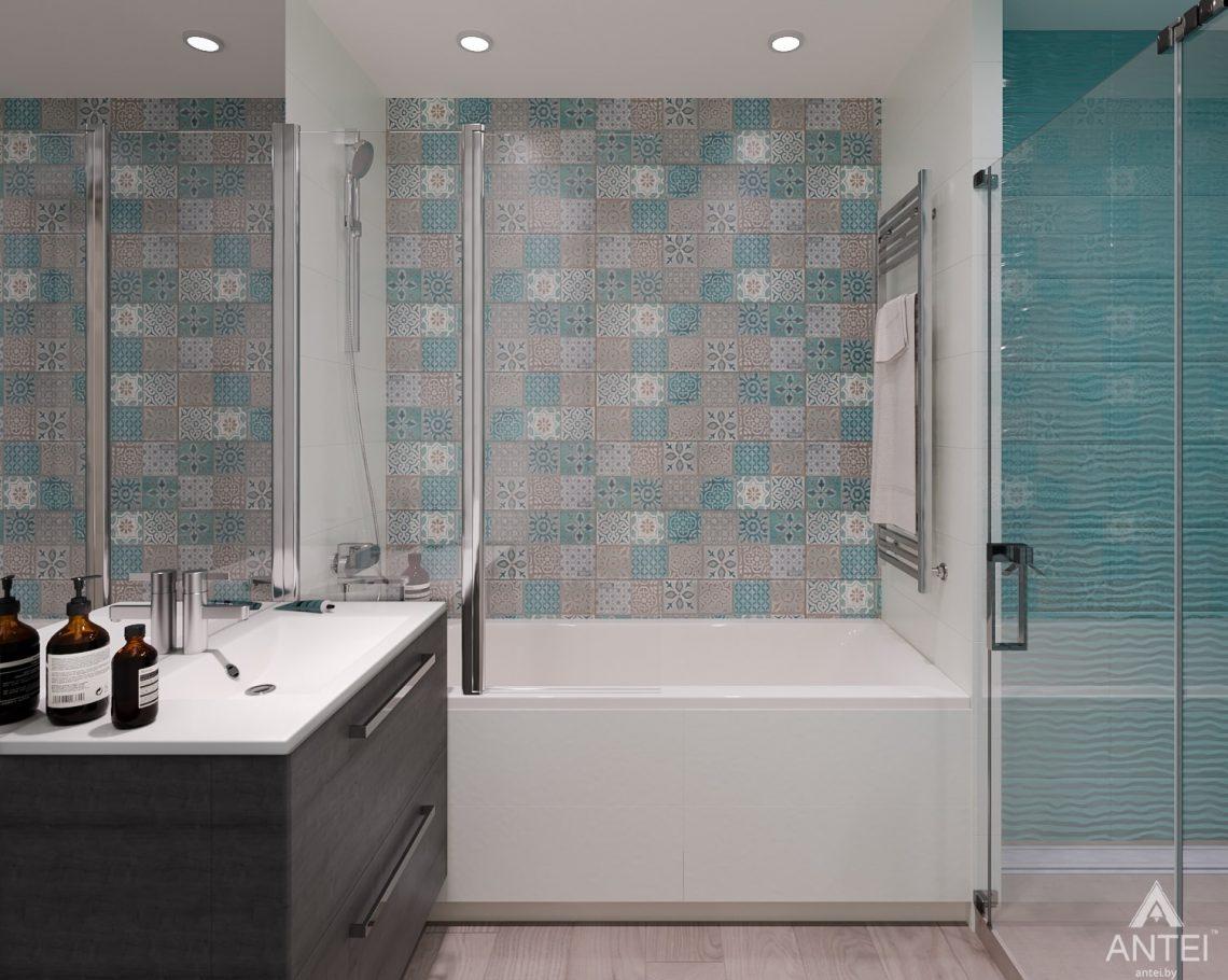 Дизайн интерьера трехкомнатная квартира в Светлогорске - ванная фото №3