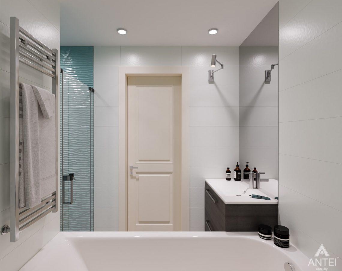 Дизайн интерьера трехкомнатная квартира в Светлогорске - ванная фото №4