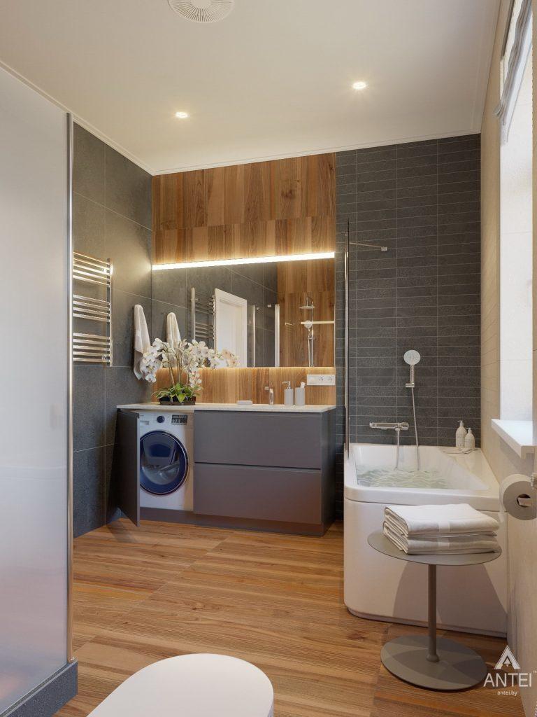 Дизайн интерьера одноэтажного дома в Гомеле - санузел фото №1