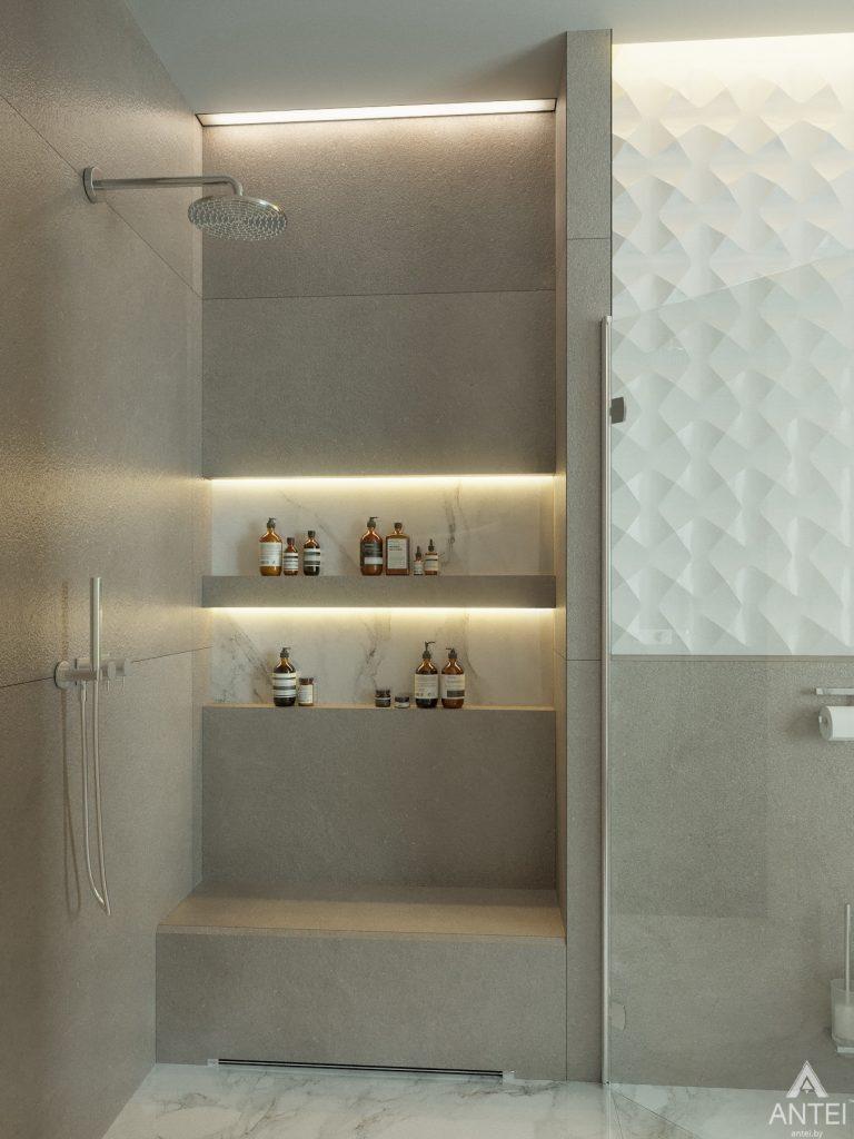 Дизайн интерьера двухэтажного дома в Гомеле - санузел фото №10