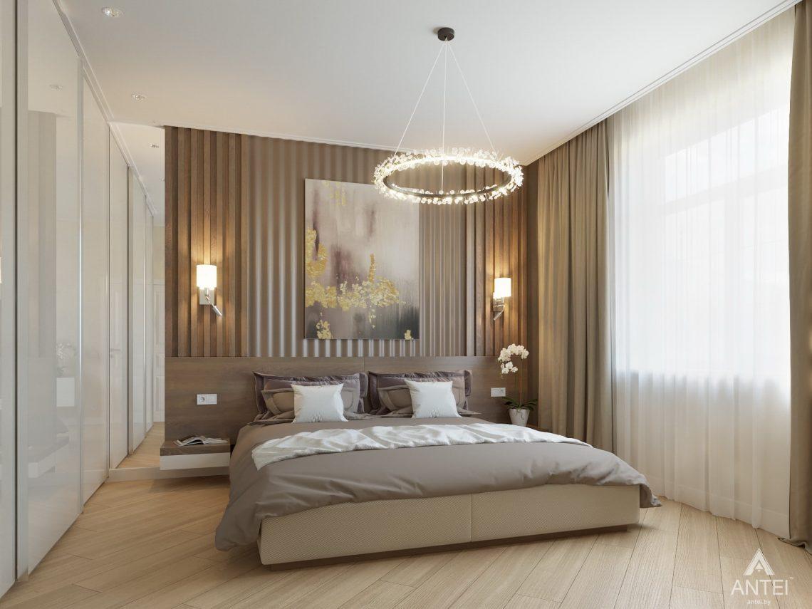 Дизайн интерьера одноэтажного дома в Гомеле - спальня фото №5