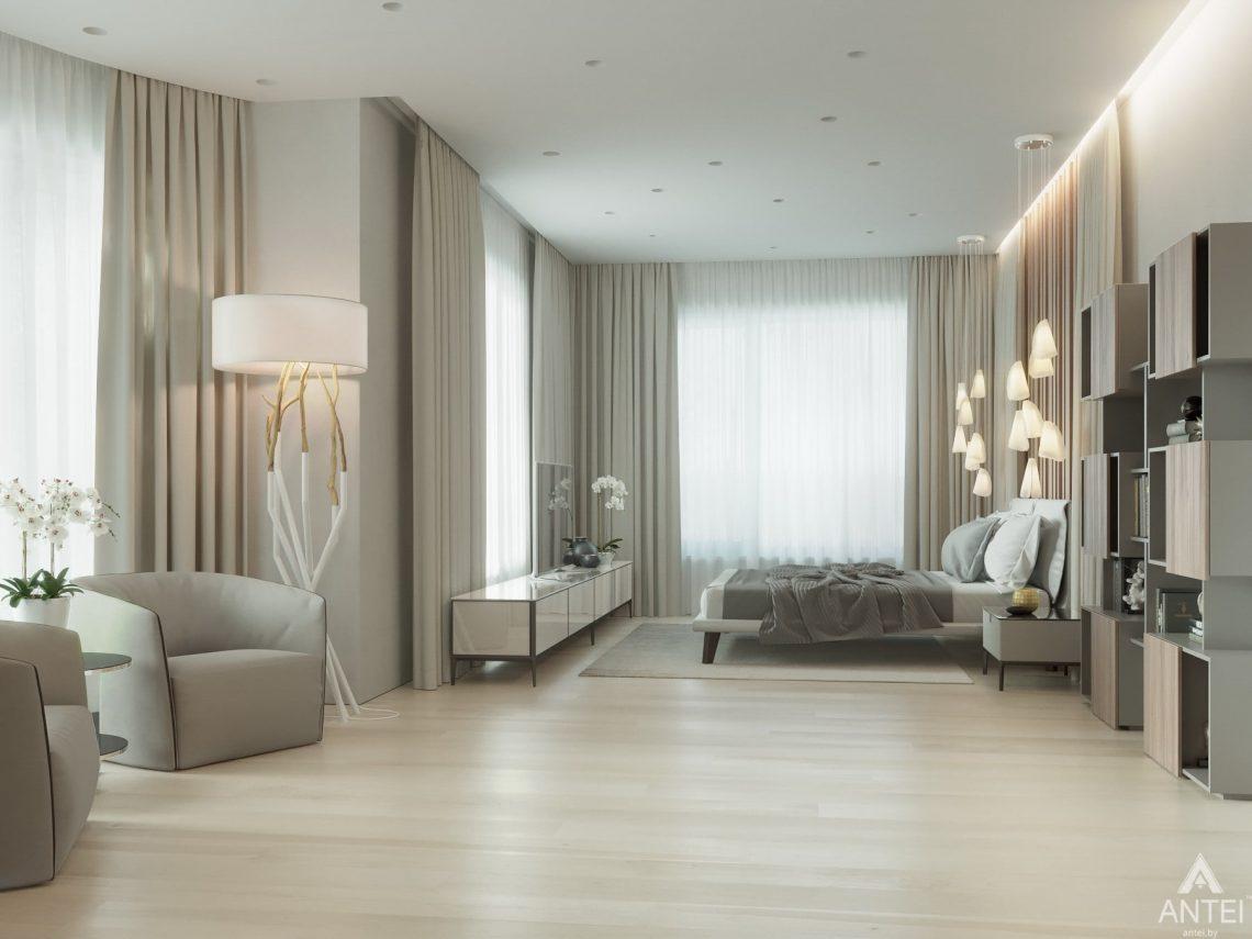 Дизайн интерьера двухэтажного дома в Гомеле - спальня фото №1
