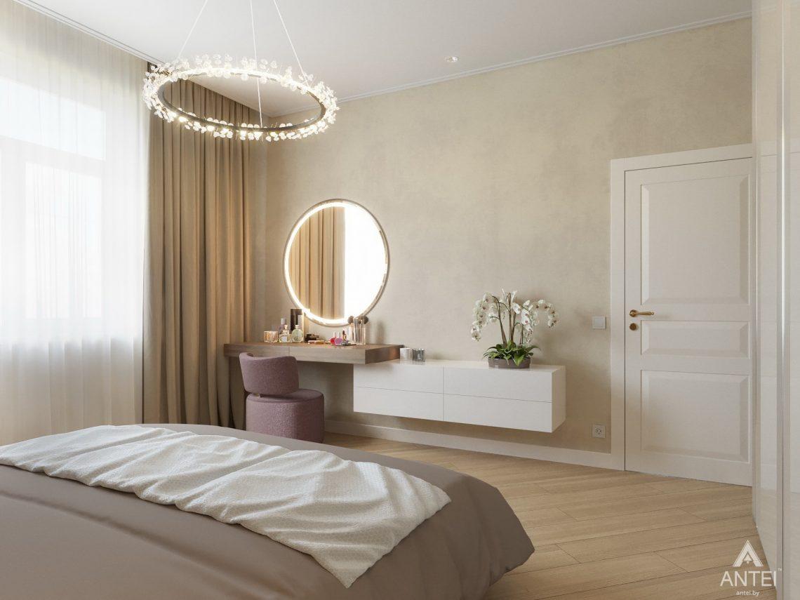 Дизайн интерьера одноэтажного дома в Гомеле - спальня фото №6
